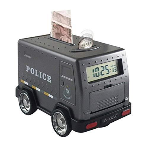 NM Houseweare Cash-Truck-Kind Aufstehen Wecker-Passwort Piggy Bank Toy Clock