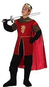 Atosa-94254 Atosa-94254-Disfraz Rey Medieval-Infantil 7 a 9 NIño- rojo, Color, 7-9 años (94254)