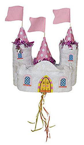 erdbeerparty - Dekoration Party Piñata Schloss Prinzessin 60x28x18 cm, - Pinata Halloween-kleid