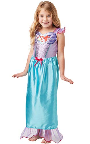 Rubie's 640818M Offizielles Disney Prinzessin Pailletten Ariel Meerjungfrau Kostüm Kinder Größe S Alter 5-6 Jahre, Höhe 116 cm, ()