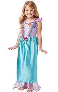Rubies - Disfraz oficial de la princesa Disney con lentejuelas Ariel y sirena, talla pequeña, para niños de 3 a 4 años, altura 104 cm