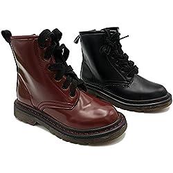 borrdeoux 32 scarponcini tronchetti stivaletti bambina alla caviglia in finpelle invernali bassi comodi scarponcini anfibi cerniera laterale