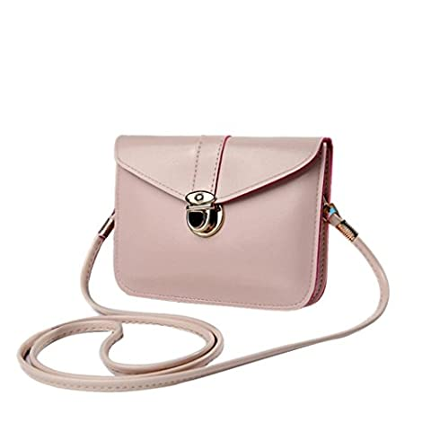 Toamen Fashion Zero Purse Bag Leather Handbag Single Shoulder Messenger Phone Bag (Beige)