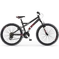 Bicicleta de montaña MBM SHOK 26 MTB aluminio 18S (Matt Black/Red