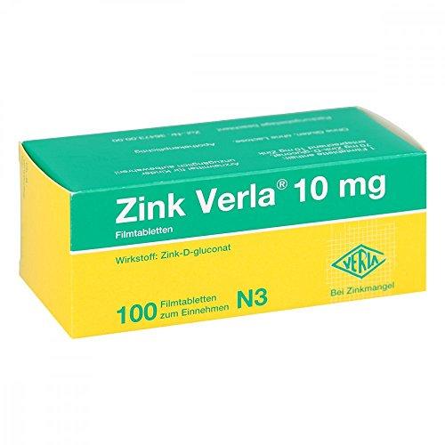 Zink Verla 10 mg, 100 St. Filmtabletten