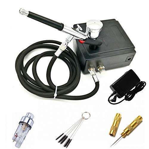 ABEST - Mini compresor de aire portátil de doble acción para maquillaje,...