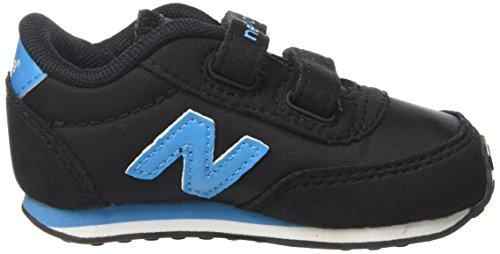 New Balance 410 Hook and Loop, Baskets Basses Mixte Enfant Noir (Black/Blue 945)