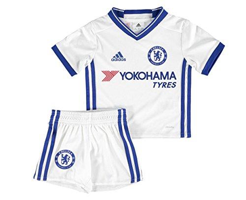adidas CFC 3 MINI - 3. Fußball-Kit, Outfit von Chelsea FC 2015/16 für Kinder, Unisex, Kinder, AI7157_104, weiß/blau, 3-4 años (Kit Replica Chelsea)