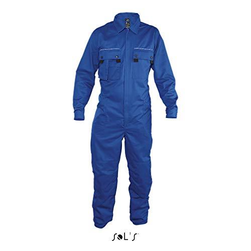 SOLSTICE PRO - Tuta da Lavoro con Unica Zip (M, BLU BUGATTI)