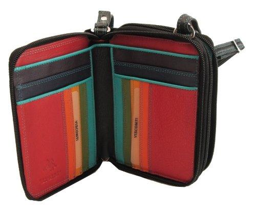 """Visconti borsa da donna a piegatura doppia, spalla/tracolla """"Barbella"""" Multicolor Mini Bag (BRB 15): nero (black multi)"""