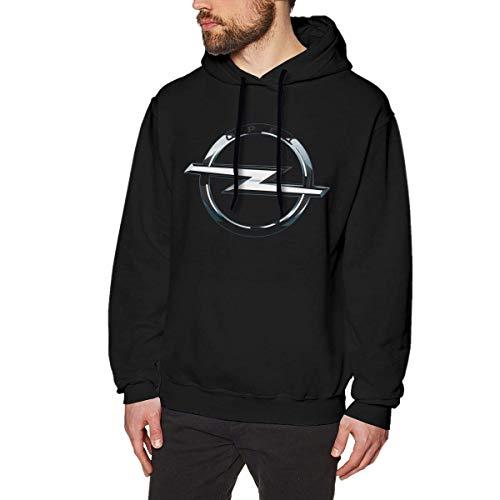 SHUNFAN Herren Kapuzenpullover, Hooded Sweat, Men Hoodie Sweatshirts Opel Logo Casual Pullover