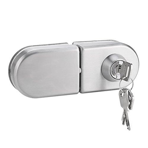 Serrure de Porte Sécurité anti-vol de porte en verre Verrou d'acier inoxydable de 10~12mm avec des clés Ouvrez/fermez l'utilisation de salle de bains de bureau d'hôtel de maison
