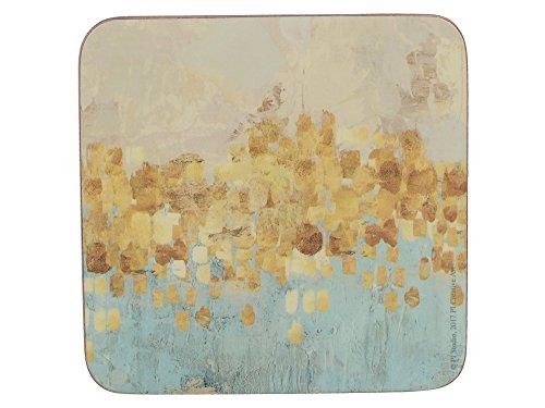 Untersetzer Für Gold Getränke (Creative Tops Golden Reflections 'Gedruckt quadratisch Getränke Untersetzer, 10,5cm (Satz von 6), Kork, gold, 10,5x 10,5x 5cm)