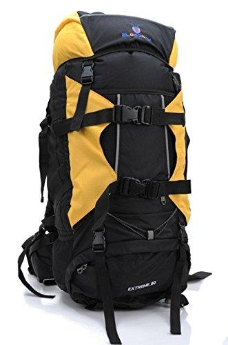 PROFI Outdoor Trekking Rucksack FX-8854 80 L XXL Wanderrucksack Reiserucksack (GELB)