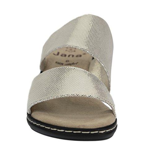 Jana shoes Da.-Pantolette Gold Metallic