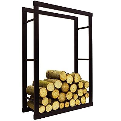 WATSONS ONIDA - Metal 70cm Wide Fireside Log Storage Rack - Black