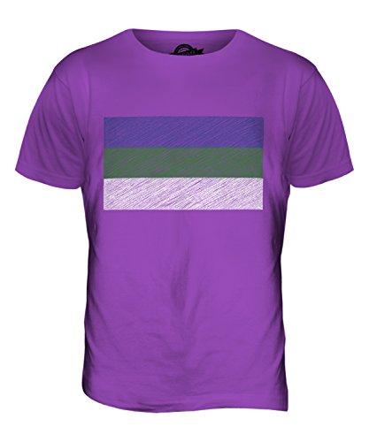 CandyMix Republik Komi Kritzelte Flagge Herren T Shirt Violett