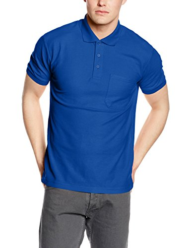 Fruit of the Loom Herren Poloshirt Blau