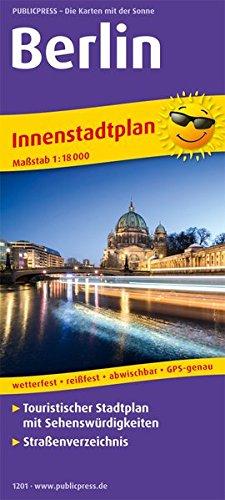 Berlin: Touristischer Innenstadtplan mit Sehenswürdigkeiten und Straßenverzeichnis. 1:18000 (Stadtplan / SP)