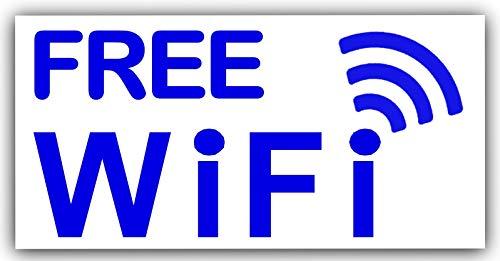 Preisvergleich Produktbild 2 x Gratis wifi-stickers-external-internet,  Café,  Restaurant,  Shop,  Hotel,  Mobile,  pub,  Bar,  Wireless,  Breitband