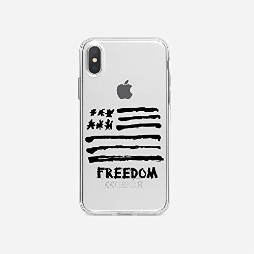 licaso Apple iPhone X Handyhülle Smartphone Apple Case aus TPU mit America  Freedom Print Motiv Slim Design Transparent Cover Schutz Hülle Protector