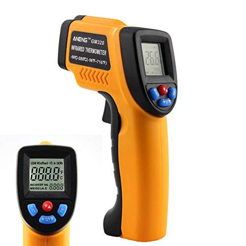 Nattnjf termometro a infrarossi retroilluminazione lcd termometro digitale a infrarossi temperatura senza contatto giallo