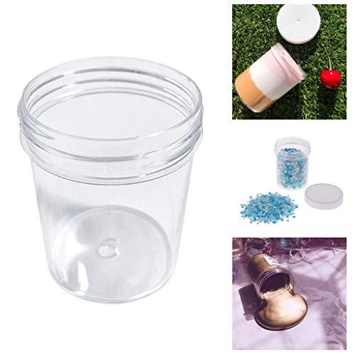 Koojawind BehäLter, GläSer Glas GewüRzkasten FüR Knetmasse Schlamm Lehm Make-Up Glas Kosmetische Topf Creme Flasche Nagel Box