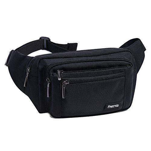 41LAwWlH57L. SS500  - FREETOO Large Bum Bag 32.7 to 45.3 Inch Size Waist Travel Pouch Fanny Pack with 6 Zipped Pockets Ideal For Hiking Travel Holidays Festivals