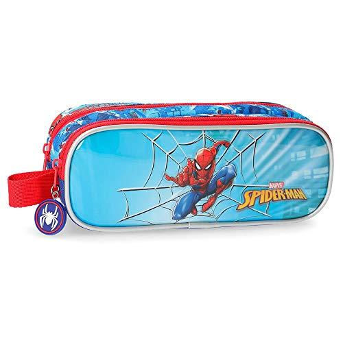 Estuche doble compartimento Spiderman Street