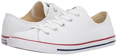 Converse CT Dainty Ox C537204 Damen Sneaker, Weiß (Blanc/Rouge), 39 EU - 5