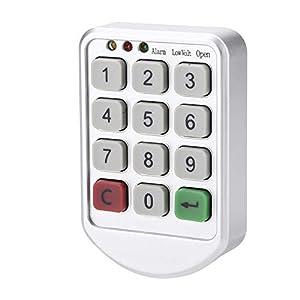 Elektronisches Schrankschloss Set, Keyless Digital Elektronische Intelligente Kennworttastatur Anzahl Gehäusetürschloss