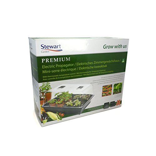 Stewart Essentials pour semis, Noir – 38 cm Haute qualité (Couvercle en styrène rigide transparent, 22 W) Large - 52 cm