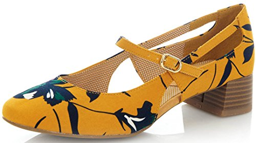 Ruby Shoo Iris - Ochre 8 UK
