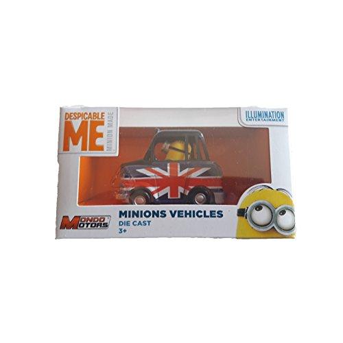 MINION Despicable me, Coche de juguete, Retro, mini con bandera británica Vehicle