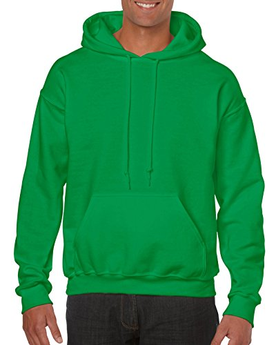 Big And Tall Cotton Pullover (Gildan G18500 Herren Kapuzen-Sweatshirt, schweres Mischgewebe - Grün - XX-Large)