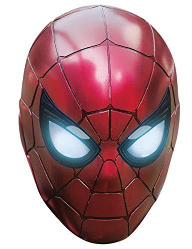 Pappkarton Erwachsene Für Kostüm - Generique - Iron Spider-Pappkarton-Maske Kostümzubehör rot-schwarz