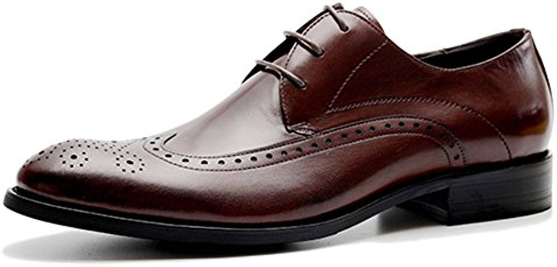 Kleid Schuhe Aus Echtem Leder Brogue Herrenschuhe Casual Classic Oxford Schuhe Für Männer OfficeJobs
