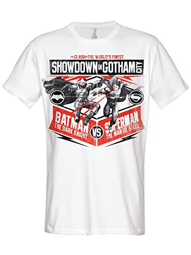 Show down In Gotham City alevros T-Shirt (White) bianco X-Large