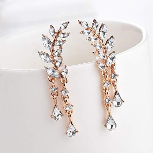 GEDASHU Earring Women'S Angel Wings Drop Earrings Rhinestone Set Auger Alloy Ear Jewelry Party Earring GothicEarrings Gothic School Girl