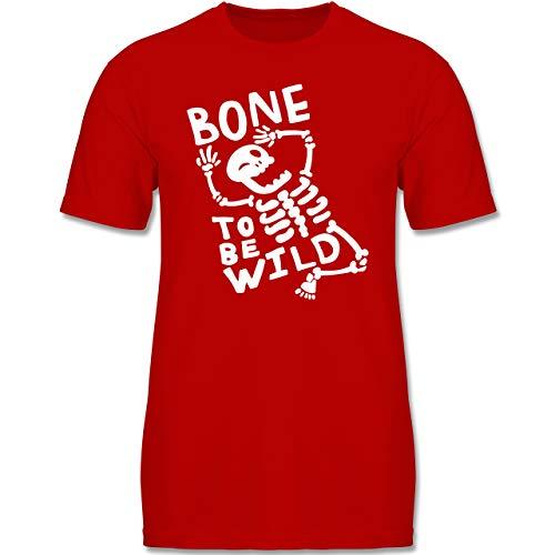 Anlässe Kinder - Bone to me Wild Halloween Kostüm - 134-146 (9-11 Jahre) - Rot - F140K - Jungen T-Shirt
