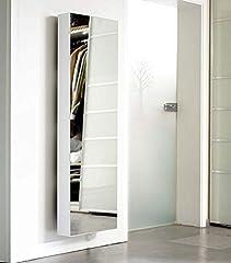 Idea Regalo - Scarpiera Porta Scarpe Bert 500Mirror drehbarer Specchio Scarpiera Specchio Bianco Altezza 150cm