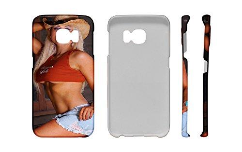 (LEotiE SINCE 2004 Handy Schale Passend für Samsung S6 Edge Sexy Girl Sexy Girl Pin up Blond)