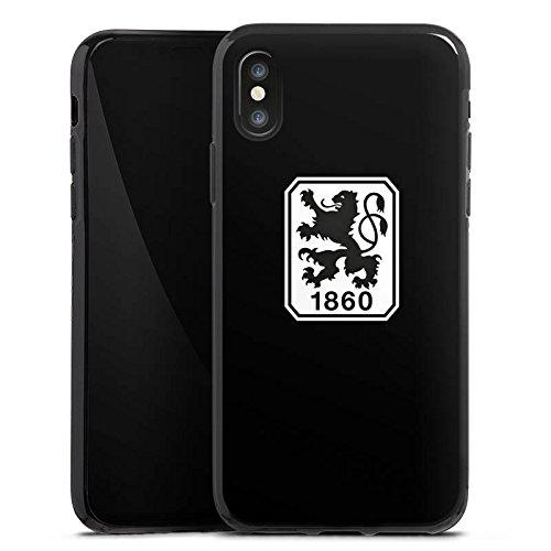 Apple iPhone 5 Silikon Hülle Case Schutzhülle TSV 1860 München Fanartikel Bundesliga Silikon Case schwarz