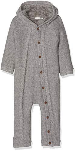 NAME IT Unisex Baby Spieler NBNNENO LS Knit WHOLESUIT, Grau Grey Melange, 62