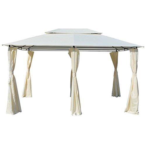 Festnight gazebo richiudibile struttura in metallo telaio in acciaio con tende bianco da giardino/spiaggia/piscina/patio per esterno 4x3 m