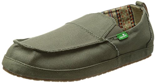 Sanuk Commodore Rund Textile Slipper Olivgrün