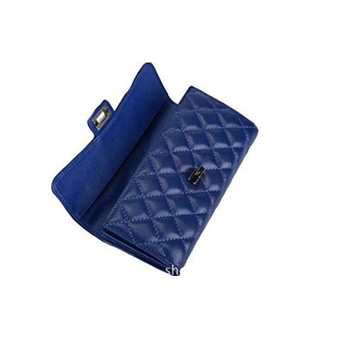 Leder-Wölbungs-Handbeutel-Geldbeutelgeldbeutel-Handbeutel-Mappe Lange Punktfreizeitart Und Weise Wild Blue