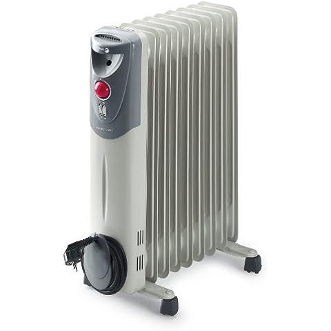 Fagor RN2000 - Radiador de aceite, 2000 W, 9 elementos, 3 posiciones, doble termostato, efecto chimenea, protección antiheladas, recogecables, color