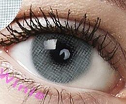 """Farbige Kontaktlinsen 3 Monatslinsen hellgrau grau""""Pony Gray"""" gute Deckkraft ohne Stärke mit Aufbewahrungsbehälter"""
