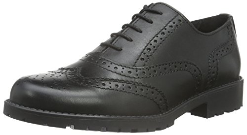 Tamaris 23209, Scarpe Stringate Basse Oxford Donna, Nero (Black 001), 38 EU